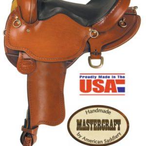 "American No.40South Fork Trail Saddle, 16"", Full QH Bars"