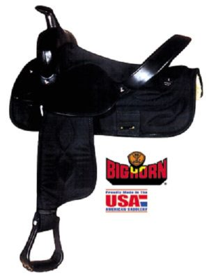 Big Horn No. 269, 271Cordura Nylon Trail Saddle, Blk or Brn