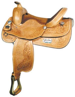 "Big Horn A00848Reining Saddle, Flex Tree, QH Bars, 16"" Seat"