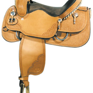 "Big Horn A00849Reining Saddle, Wood Tree, 16"" Seat"