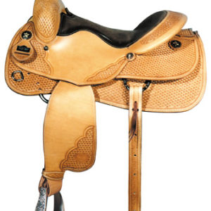 Big Horn A00861Reining Saddle, Wood Tree, Full QH Bars, 16""