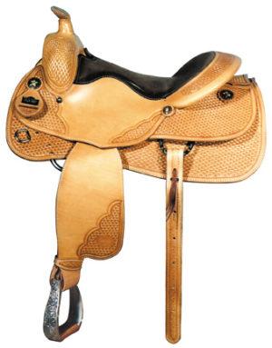 "Big Horn A00861Reining Saddle, Wood Tree, Full QH Bars, 16"""
