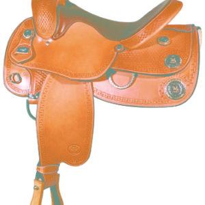 "Big Horn A00890Reining Saddle, Flex Tree, Full QH Bars, 16"""
