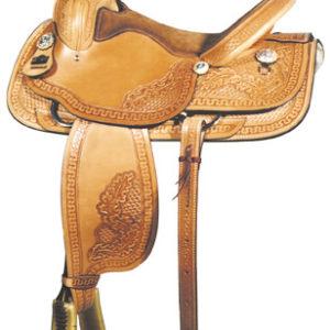 """Big Horn A00880Roper Saddle, QH Bars, 16"""" seat"""