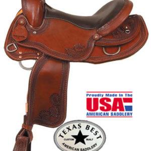 American No 937The Sendero Trail Saddle, QH,Mule,Gaited Bars