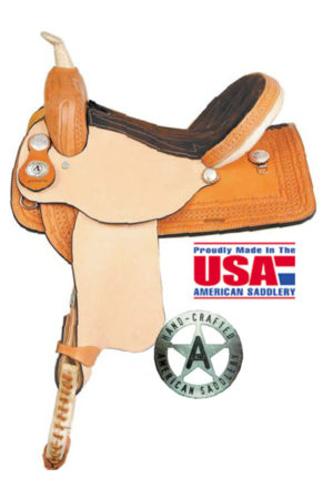 American No. 879The American Barrel Saddle, QH Bars, 15, 16""