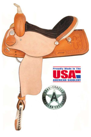 "American No. 775Tooled Cross Racer Saddle, QH Bars, 15"", 16"""