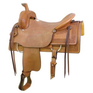 No. 291571The GUTHRIE RANCH CUTTER SADDLE. 16.5 inch