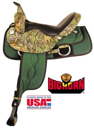 "Big Horn No 300Mossy Oak Trail Saddle Cordura Nylon,16"",17"""