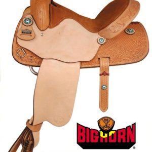 Big Horn  A01537Jeweled Conchos Barrel Racers Saddle