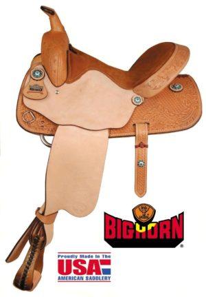 Big Horn  A01537Jeweled Conchos Barrel Racers Saddle