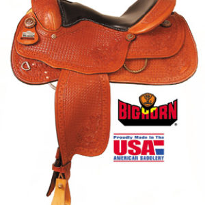 "Big Horn A00863Reining Saddle, Full QH Bars, 16"" Seat"