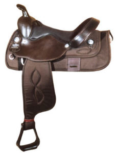 Big Horn A00295-16HAFLINGER SADDLE, Brown Cordura Nylon