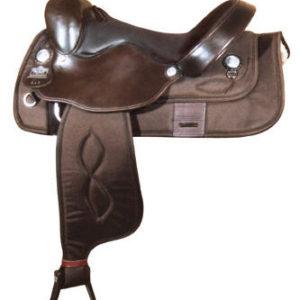 Big Horn A00295-16HAFLINGER SADDLE, Brown Cordura Nylon
