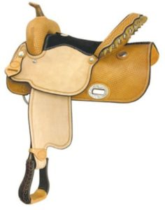 "No 291267Flex Wide Racer Saddle, by Billy Cook, 15"" 16"" Seat"