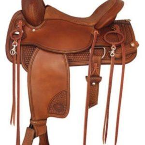"No 292TF477TNT Trailblazer Saddle byTex Tan 16 or 17"" Seat"