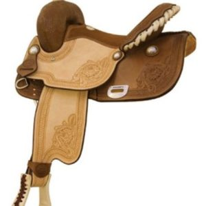 "No 291227Mission Racer, Barrel Saddle by Billy Cook, 15""Seat"