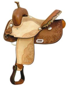 No 291225Maple Star Racer, Barrel Saddle  by Billy Cook 15""