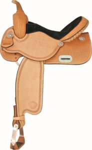 No 292220NAFinals Round Barrel Saddle Tex Tan. 13,14,15,16""