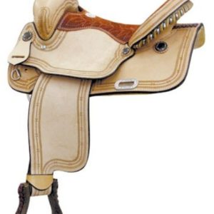 No 291200Barbed Wire Racer Saddle, Connie Combs, 15""