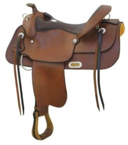 "No 291476Draft Trail Saddle by Billy Cook. 16"", 17"" Seat."