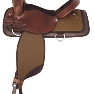 "No 292NY522Waskom Nylon Trail Saddle by Tex Tan. 16"", 17"""