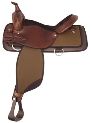 "No 292NY522Waskom Nylon Trail Saddle by Tex Tan. 16"", 17"""