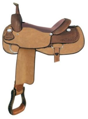 "No 291579Red River Cutter Saddle by Billy Cook. 16"" 17""Seat"