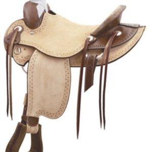 "No 291820Carlos Wade Roper Saddle by Billy Cook 16"" Seat"