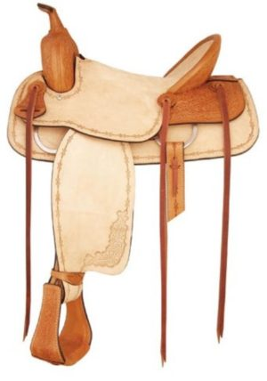 "No 292804Santa Fe Roper Saddle by Tex Tan. QH Bars, 16"" Seat"