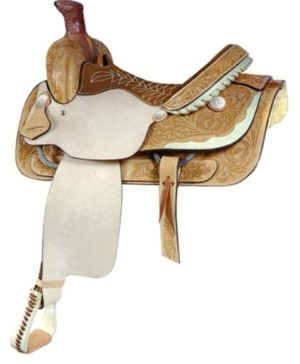 No 291524Lady Half Breed Roper Saddle, by Billy Cook. 14.5""