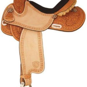 "No 292200Star Racer Barrel Saddle Full QH Bars 14"", 15"", 16"""