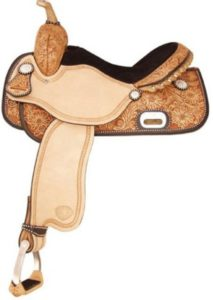 No 292210Money Round Barrel Saddle by Tex Tan. 15""