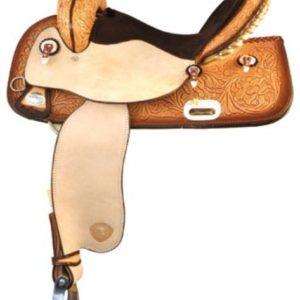 "No 292TF224Flex Racer Barrel Saddle by TexTan. 15"" Seat"