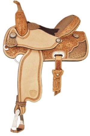 "No 292204Ocala Racer Barrel Saddle. by TexTan 15"" Seat"