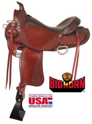 "Big Horn A00935Trail Saddle, 16"" Seat. Quarter Horse Bars"