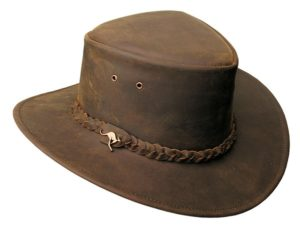 No. 4H57Nullabour Vintage Leather Hat, Color Brown