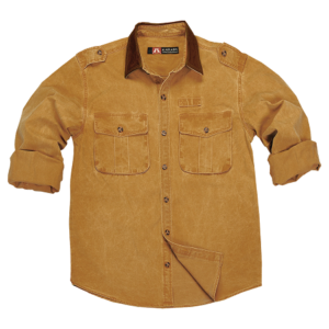 No. 4S07Kakadu Southern Cross 10oz Gunn Worn Canvas Shirt