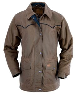 No. 2103Round Up Jacket, Ladies Outback Oilskin