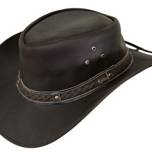 No. 1367Wagga-Wagga Leather Outback Hat