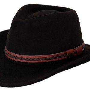 No. 1328High Country Tassy Crusher Wool Hat