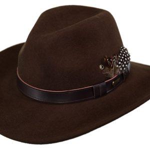 No. 1345Pathfinder Tassy Crusher Wool Hat
