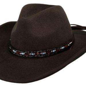 No. 1348Aubrey Tassy Crusher Wool Hat