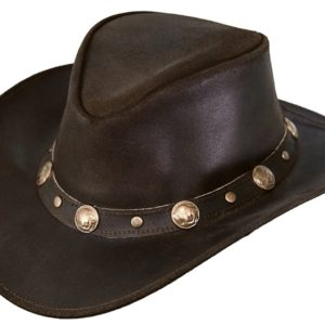 No. 1376Rawhide Leather Outback Hat