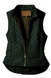 No. 2177Ladies Quilted Vest, Oilskin