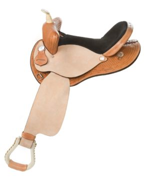 "No. 430Pace Setter Barrel Saddle 14, 15, 16"" Seat"