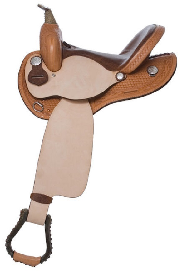 "No. 3100Old Branson Barrel Saddle  14, 15, 16"" Seat"