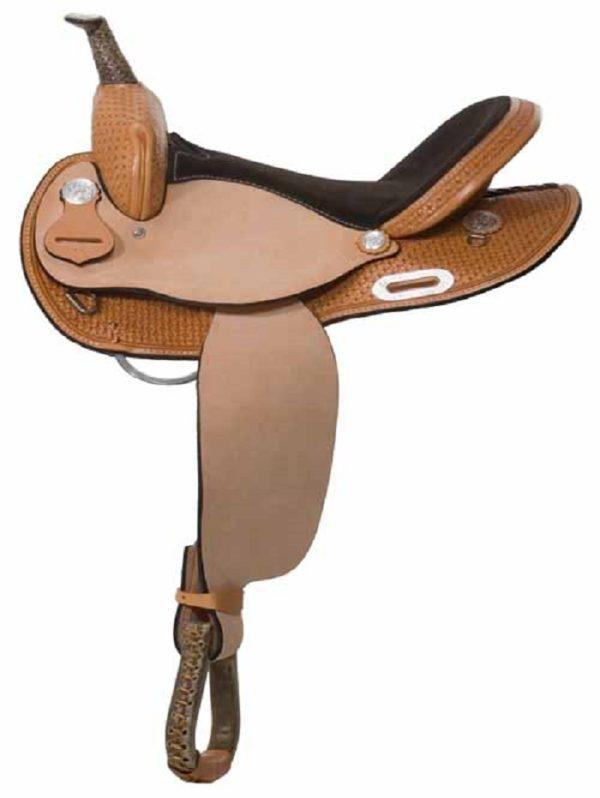 "No. 30401Calico Barrel Saddle  14, 15, 16"" Seat"