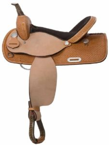 "No. 30501High Plains Barrel Saddle 14, 15, 16"" Seat"