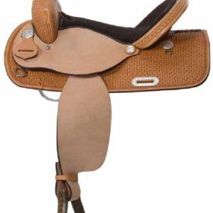 "No. 30501High Plains Barrel Saddle 14, 15, 16"" Seat"
